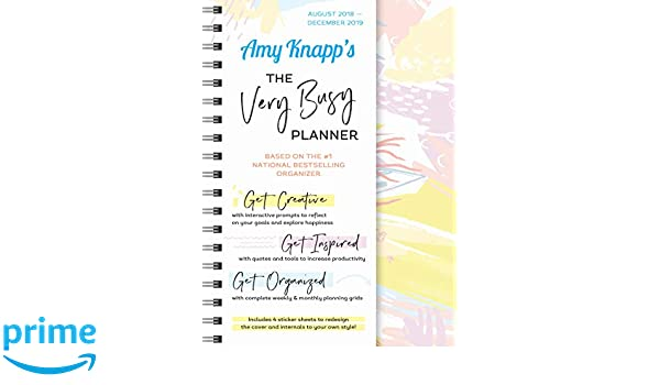amazon amy knapp s the very busy planner 2019 august 2018