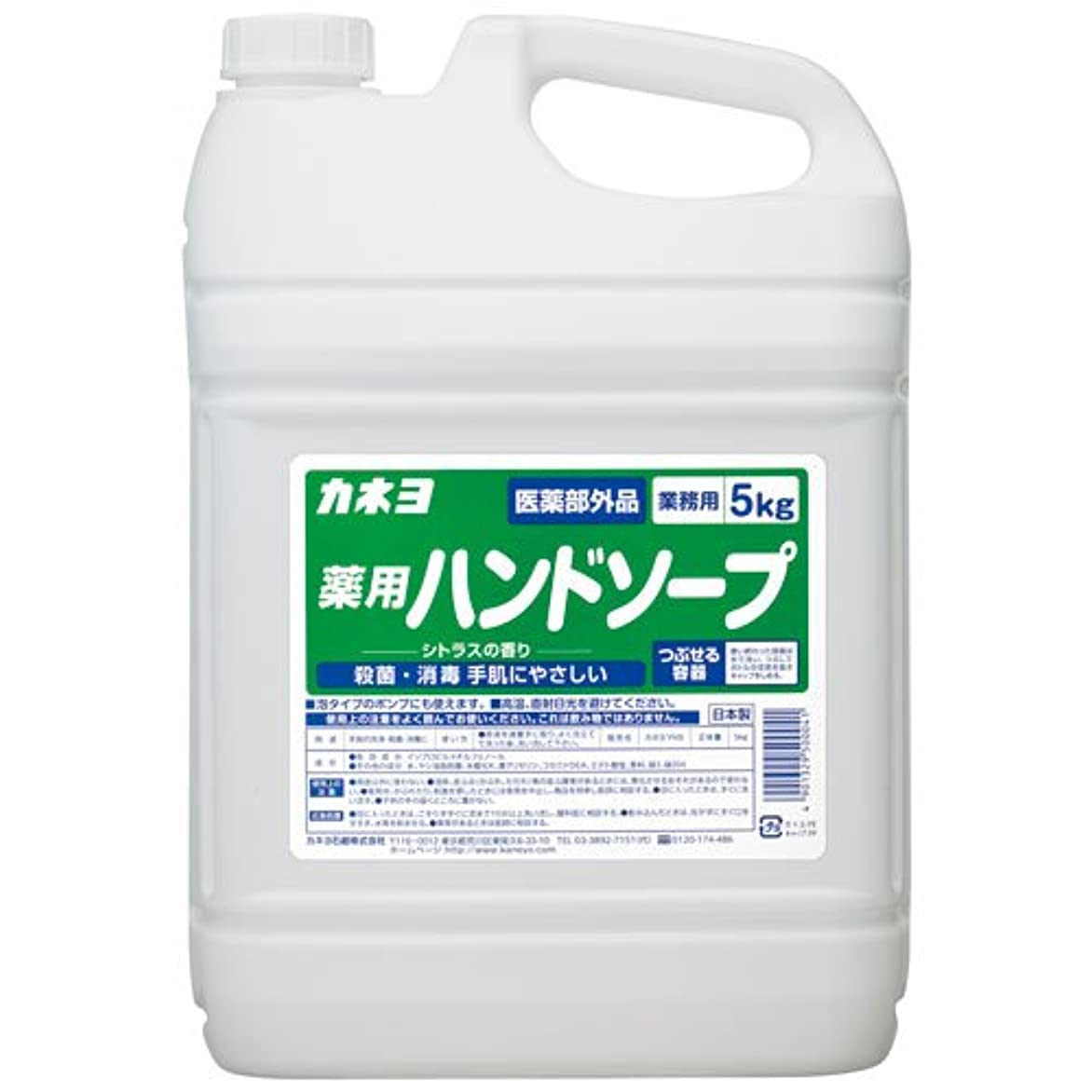 【ケース販売】業務用 カネヨ薬用ハンドソープ 5㎏×3本