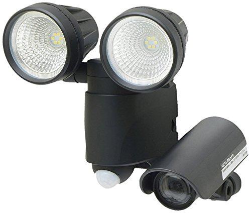 【Amazon.co.jp限定】高儀 LEDセンサーライト ダブル 6W×2 ブラック 録画機能付 ...