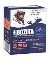 ボジータ サーモン ウェットフード ナチュラル 仔犬・成犬・高齢犬用 全犬種用 370g×8個