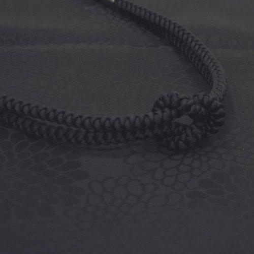 着物 喪服用 正絹 帯揚げ・帯締めセット 黒