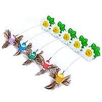 面白い猫のおもちゃ電気回転蝶小さなハチドリペット猫のおもちゃ面白い猫のスティック猫用品面白い猫のスティック - カラフル