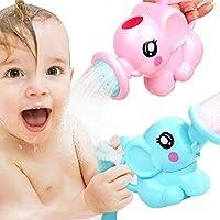 夏のエッセンシャルベイビーのお気に入りお風呂のおもちゃ 面白いかわいい象のシャワー 子供の浴室 ビーチ おもちゃ