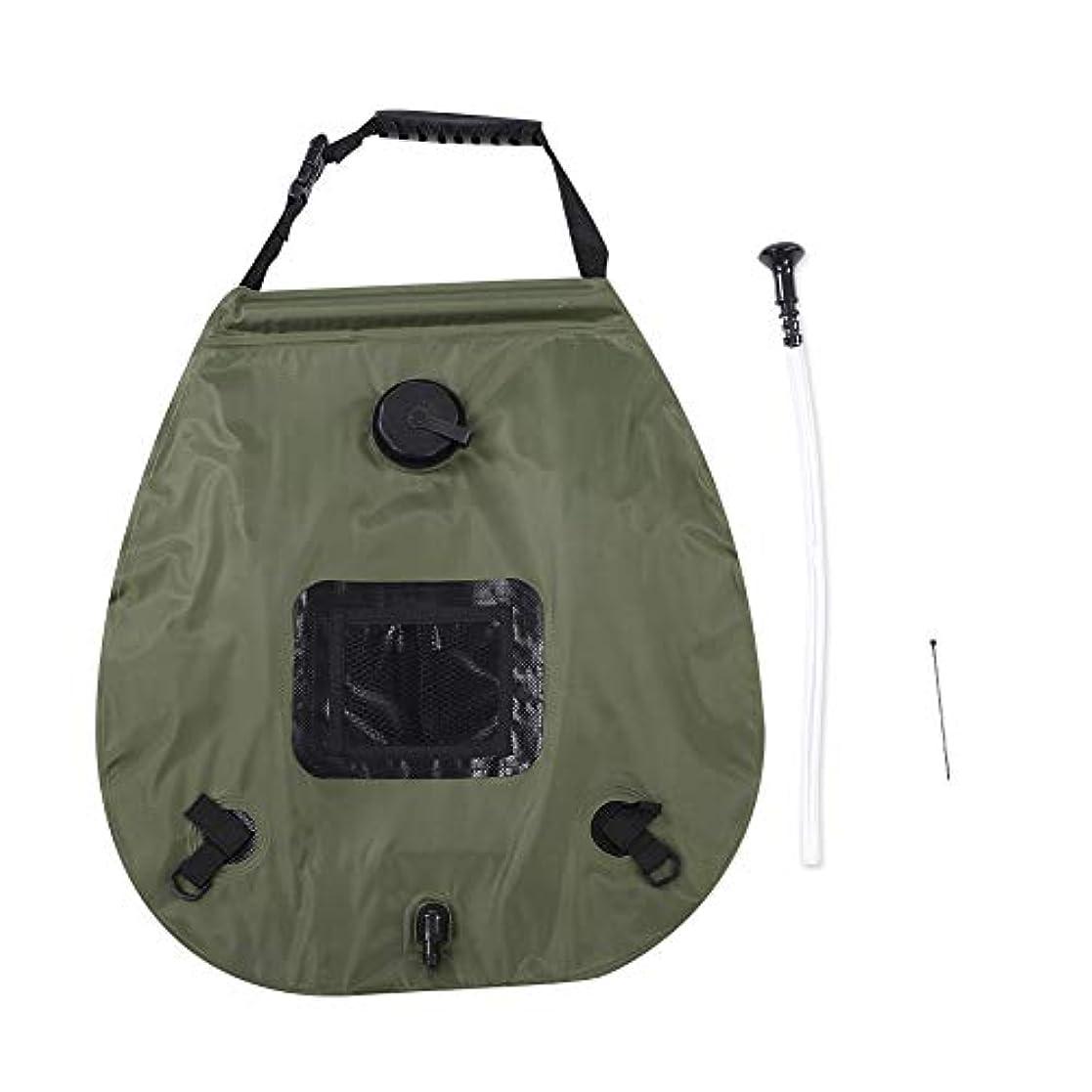 遅い魅力的オアシスソーラー暖房シャワーバッグ 20L キャンプシャワーバッグ 温度50°C ハイキング 旅行 サマーシャワー 自動熱吸収