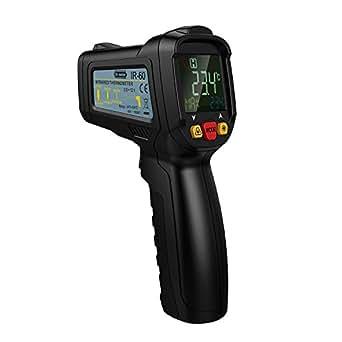 Dr.meter 赤外線放射温度計 非接触 デジタル - 50℃ ~ 800℃ 測定器 料理用 冷蔵庫 UV灯 ホルスター付き バッテリー付属 日本語取扱書 IR-60