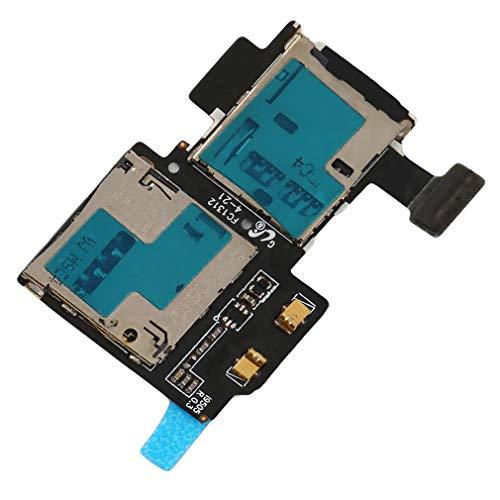 Sunnyday OEM TF + SIMカードトレイホルダースロットフレックスケーブル、Samsung Galaxy S4 i337用