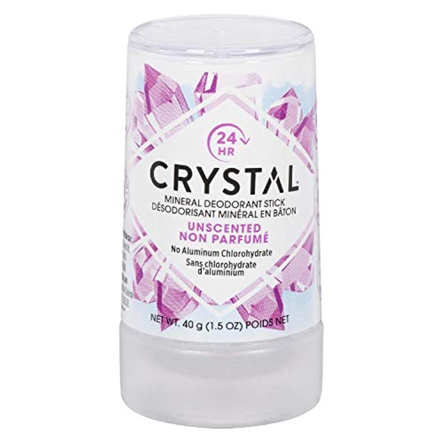 合併確実クラックCrystal Body Deodorant, ミネラルデオドラントスティック、無香料、1.5 oz (40 g)