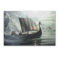 """CafePress–Viking Shipはがき(Package of 8)–はがき(8) のパッケージ、6"""" x4""""光沢印刷NOTEカード"""