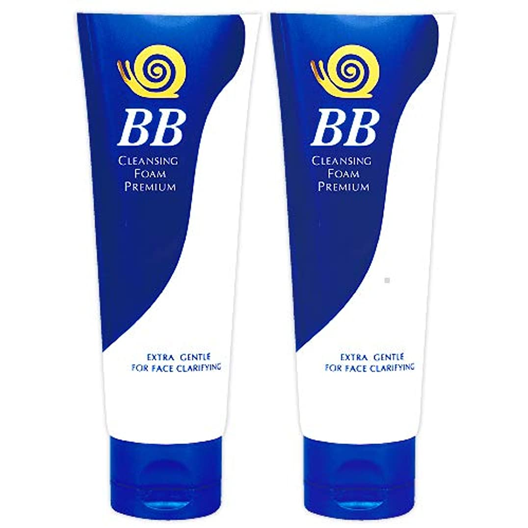 遺伝子留め金ナイトスポットB&S 極上 かたつむり BB 洗顔フォーム (プレミアム) 100g 2個 セット [並行輸入品]