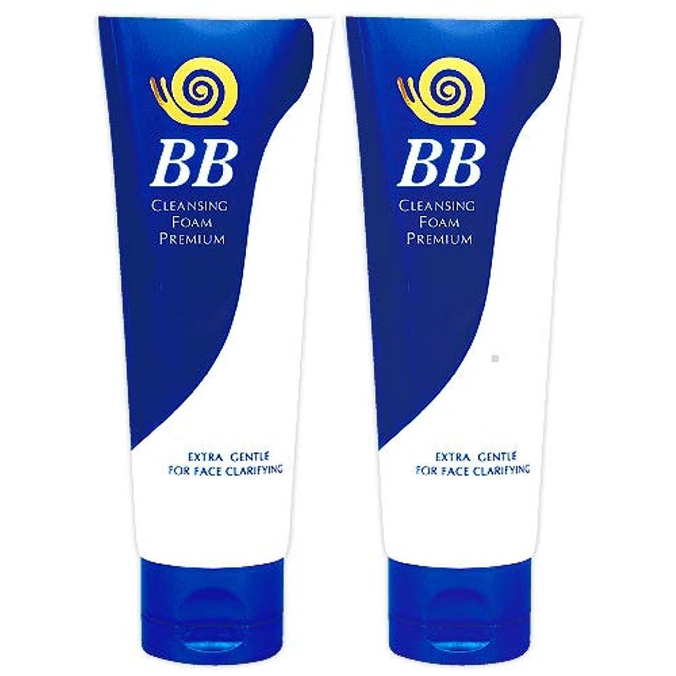 センチメンタルめんどりリップ極上 かたつむり BB 洗顔フォーム (プレミアム) 100g 2個 セット