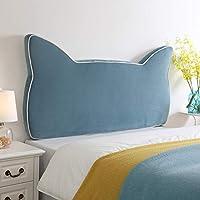 PENGFEI クッションベッドの背もたれ ベッドサイドソフトパック 背もたれ枕 ウォッシャブル、 ヘッドボード標準の有無にかかわらず、 5色、 5サイズ (色 : Blue No headboard, サイズ さいず : 120CM)