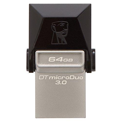 キングストン USBメモリ 64GB USB3.0 DataTraveler microDuo 3.0 DTDUO3/64GB 5年保証