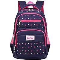 School Backpack Girls Nylon Backpack Women School Backpacks Schoolbag for Teenagers Student Book Bag Girls Mochila Infantil (Color : Navy Blue, Size : -)