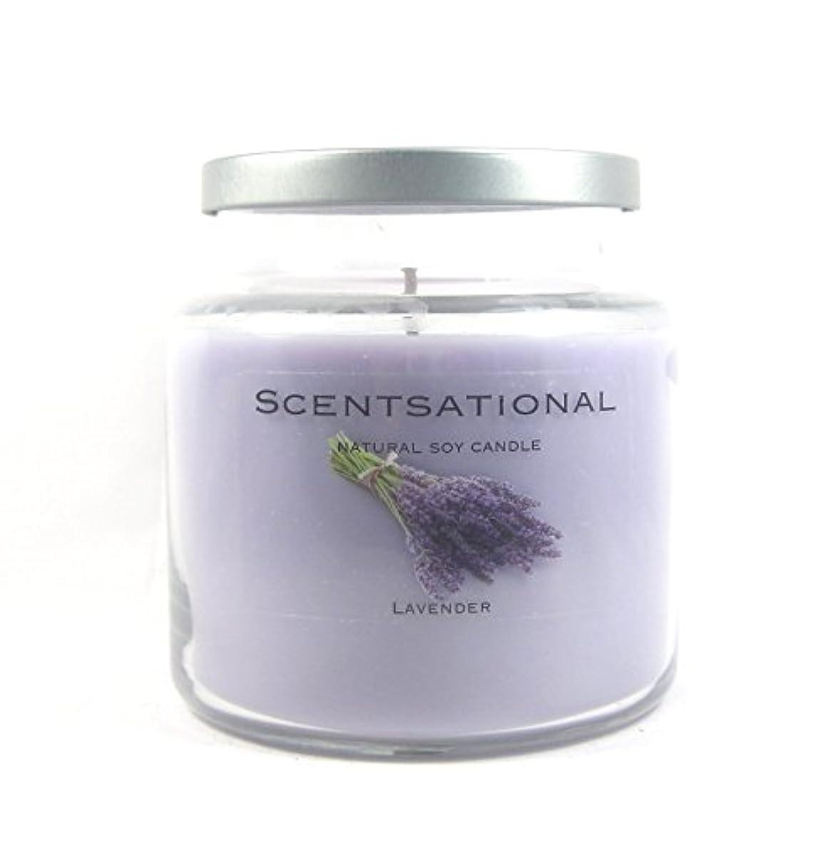 タイプライター航海の創始者Scentsational Soaps &キャンドル自然Soy Candle W /蓋19 oz – --ラベンダー