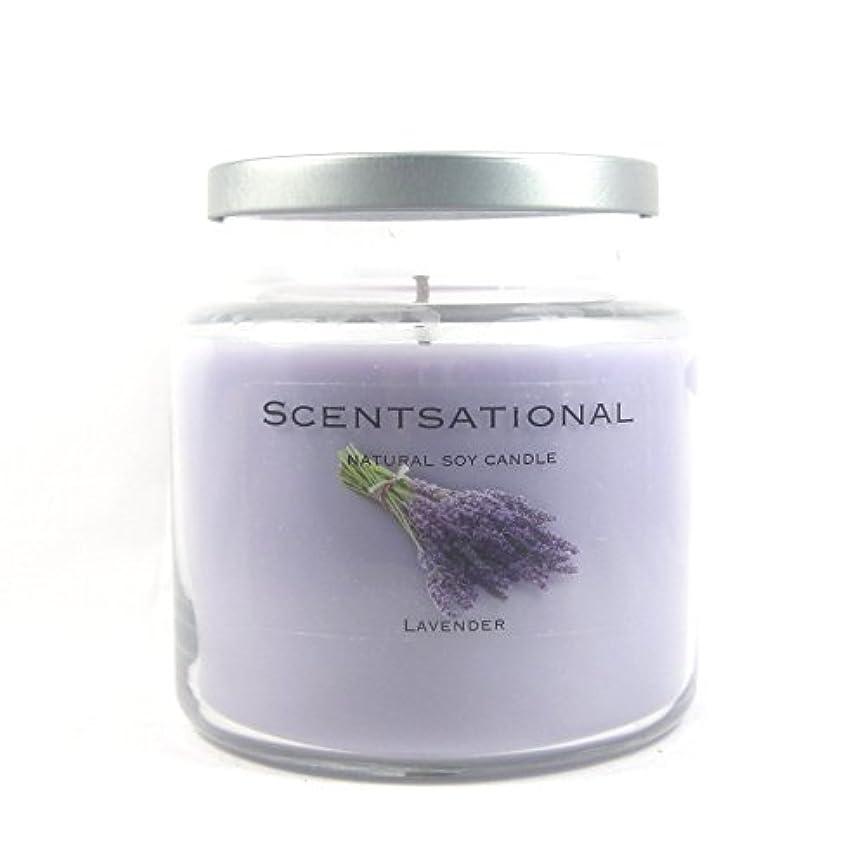 細菌クローン征服者Scentsational Soaps &キャンドル自然Soy Candle W /蓋19 oz – --ラベンダー