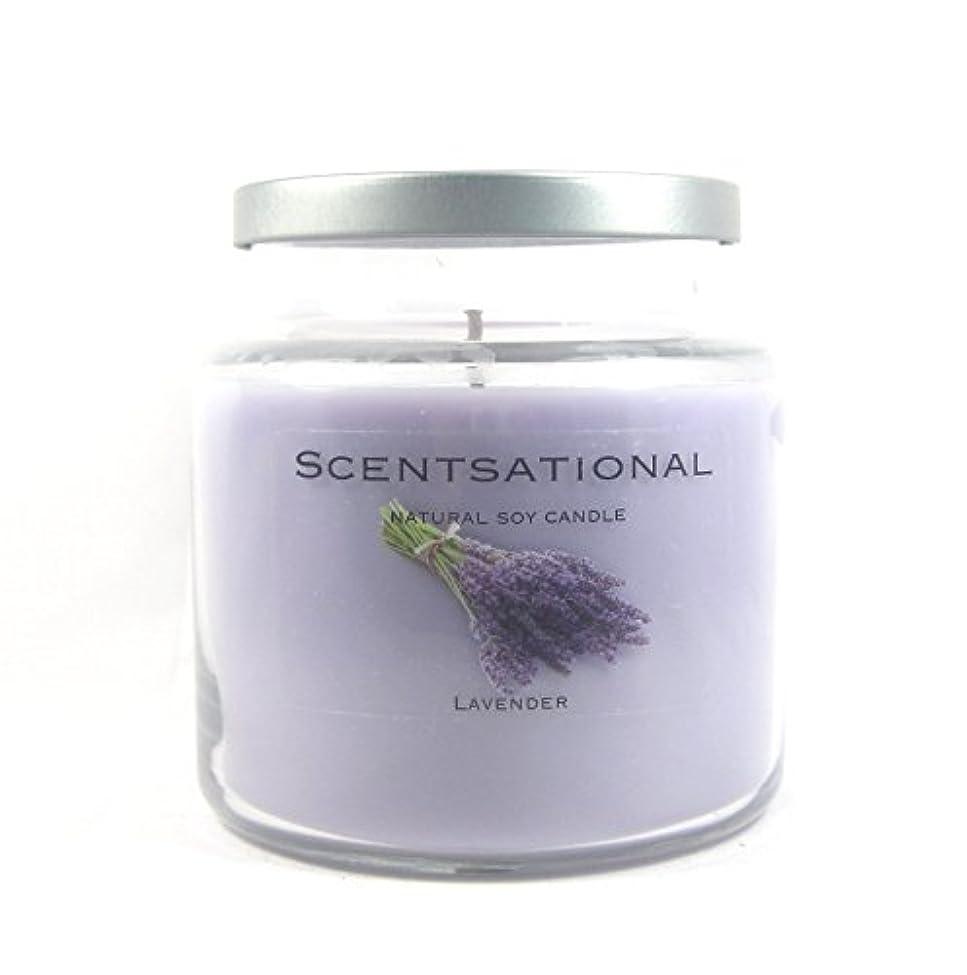 追い払う熟読伝記Scentsational Soaps &キャンドル自然Soy Candle W /蓋19 oz – --ラベンダー