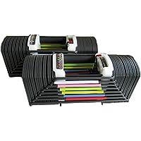 可変式ブロックダンベル90ポンド(41Kg)2個セット)◆シャフト抜き差しでワンタッチ調整◆