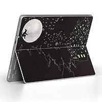 Surface go 専用スキンシール サーフェス go ノートブック ノートパソコン カバー ケース フィルム ステッカー アクセサリー 保護 クール ハロウィン 魔女 黒 ブラック 008443