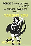 """Forget what hurt you in the past, but never forget what it taught you: Anime Lover """"Motivation"""" Notebook, 120 Squared Pages, 6 x 9, Gift, School&Office, Fairy Tail, Lucy Hearthfilia"""
