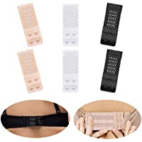 Joojus Women's Bra Extenders Elastic Stretchy Bra Extender Band Bra Extension Straps, Add Soft Comfortable for Women 2 Rows 2 Hooks, 6 Pieces