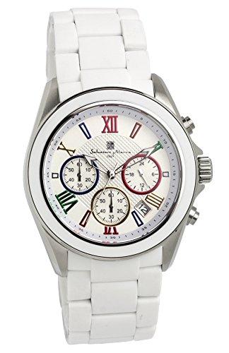 [サルバトーレマーラ]Salvatore Marra 腕時計 ウォッチ クロノグラフ ビジネス フォーマル ホワイト メンズ