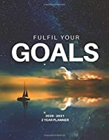 2020-2021 2 Year Planner Monthly Calendar Goals Agenda Schedule Organizer: 24 Months Calendar; Appointment Diary Journal With Address Book, Password Log, Notes, Julian Dates & Inspirational Quotes