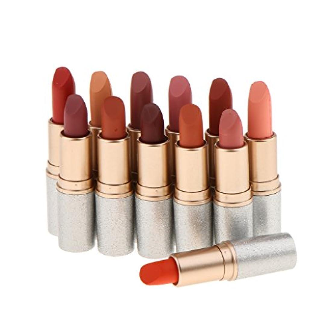 本土鉛筆参加するベルベットマット 口紅 リップグロス リップスティック 唇メイク 人気色 12色セット コスメ 防水 長持ち