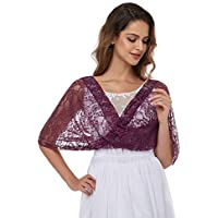 Lace Shawl for Women Bridal Cover Up Bolero Wraps Shrugs Scarf for Evening