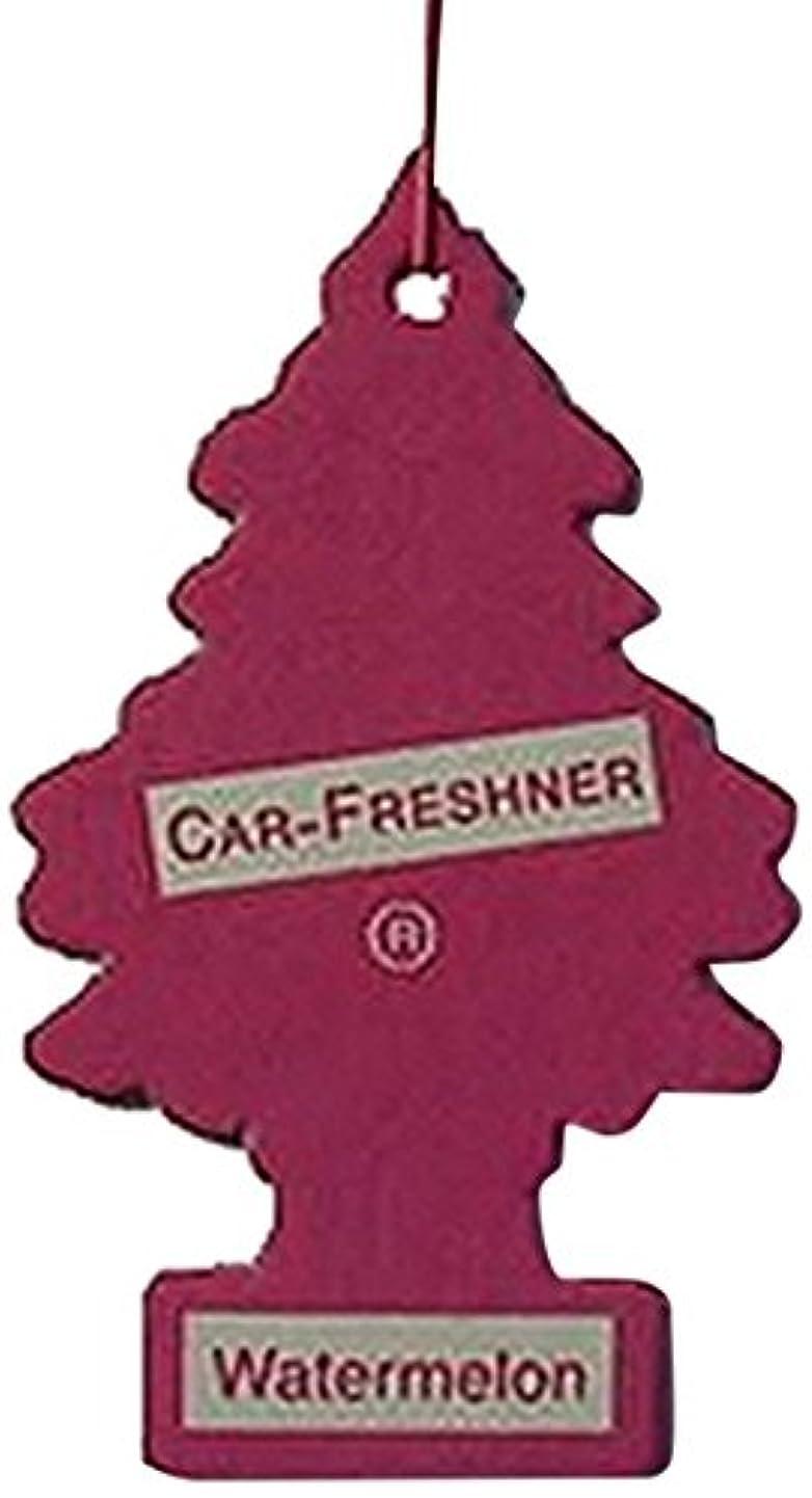 熟達した運動霜Little Trees 吊下げタイプ エアーフレッシュナー ウォーターメロン 5枚セット(5P)
