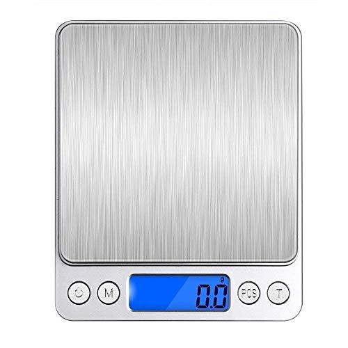 デジタルスケール デジタルキッチンスケール 精密皿はかり 多機能クッキングスケール 超高精度電子はかり 0.1gから1000gまで計量可能 計数機能 風袋引き機能 オートオフ機能付き精密な電子はかり (レッド)