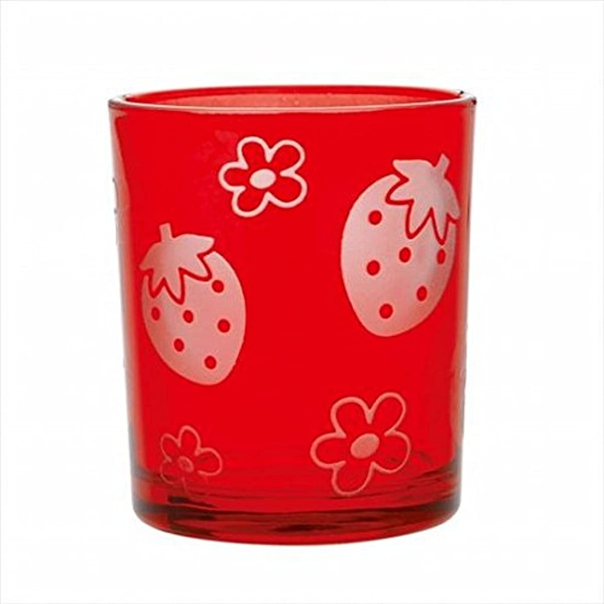 厳信条おなじみのsweets candle(スイーツキャンドル) いちごフロストカップ 「 レッド 」 キャンドル 55x55x65mm (J1490040R)