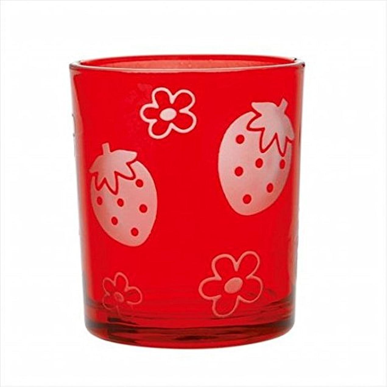 グリップ展望台指導するsweets candle(スイーツキャンドル) いちごフロストカップ 「 レッド 」 キャンドル 55x55x65mm (J1490040R)
