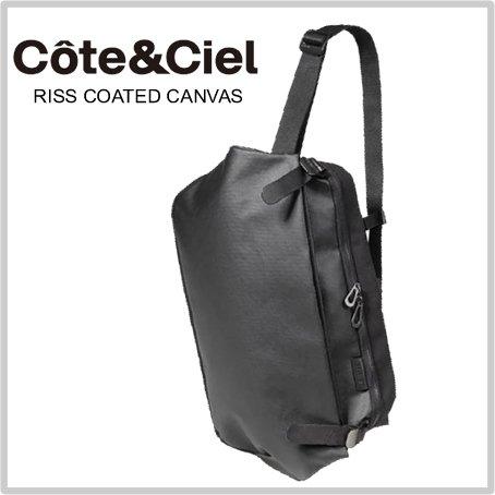 コートエシエル Cote&Ciel Riss Coated Canvas ブラック (13インチまで収納) 28394 ショルダーバック メッセンジャー バッグ ボディバック [並行輸入品]