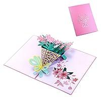 RousZL 感謝カード水仙グリーティングカード手作り誕生日結婚式招待状新しい