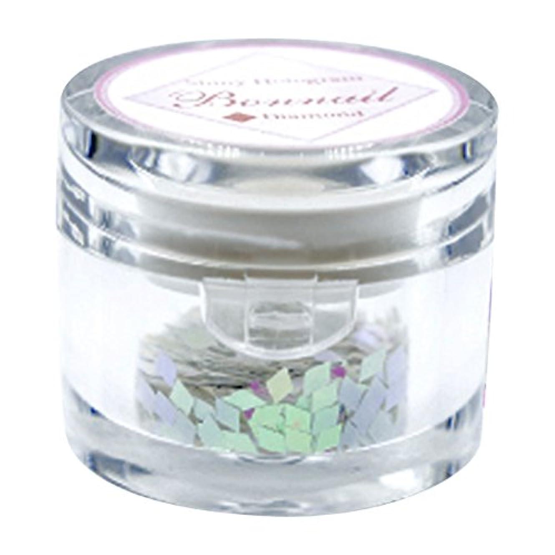 リーチ縞模様のローマ人Bonnail シャイニーホログラム ダイヤモンドピンク