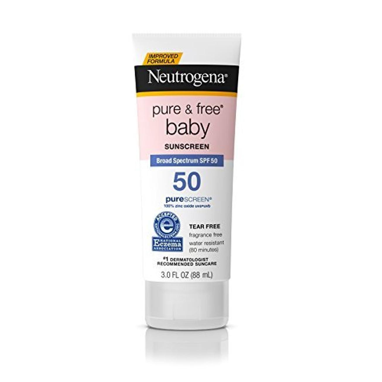 チャーター非常に怒っていますティッシュNeutrogena Pure & Free Baby Mineral Sunscreen Broad Spectrum SPF 50 3 fl. oz. [並行輸入品]