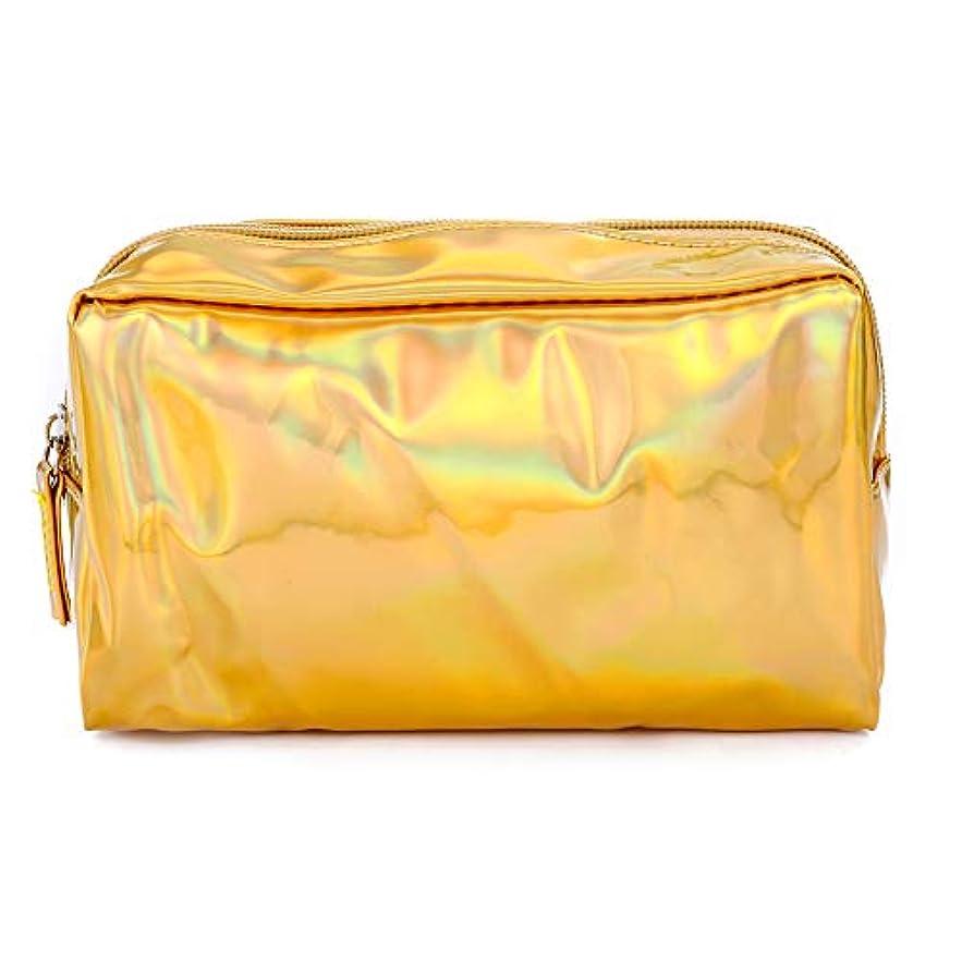 寄稿者蒸留するスカイ化粧品ポーチ旅行整理化粧品収納袋ポータブル FidgetFidget 小物 収納 バッグインバッグ 防水温泉 ビーチサイド旅行 出張 ゴールド