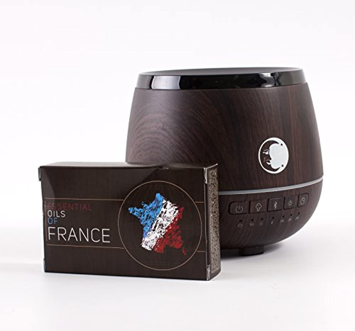 協力ハリウッド道徳教育Mystic Moments | Wood Effect Aromatherapy Oil Ultrasonic Diffuser With Bluetooth Speaker & LED Lights + Essential...
