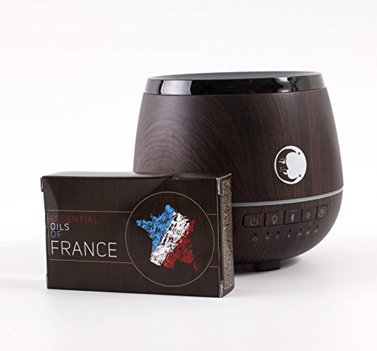 Mystic Moments | Wood Effect Aromatherapy Oil Ultrasonic Diffuser With Bluetooth Speaker & LED Lights + Essential...