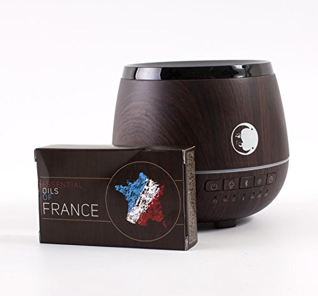 可動着替える怠惰Mystic Moments   Wood Effect Aromatherapy Oil Ultrasonic Diffuser With Bluetooth Speaker & LED Lights + Essential...