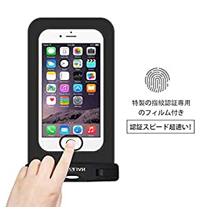 MOSSLIAN 防水ケース iphone X/iPhone xs/iphone xr, iPhone 8/8 Plus, iPhone 7/7 Plus,Xperiaシリーズ,NEXUS,AQOUS等(4-6インチ対応)各スマートフォンに適応,男女共用 水、雪、埃、砂防止 携帯バッグ (PVC指紋防止ブラック)