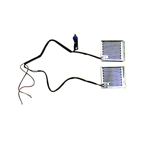 ホットグリップヒーター 【オートバイ/バイク用 12V】 汎用/接着式温熱/パネルヒーター ON/O...