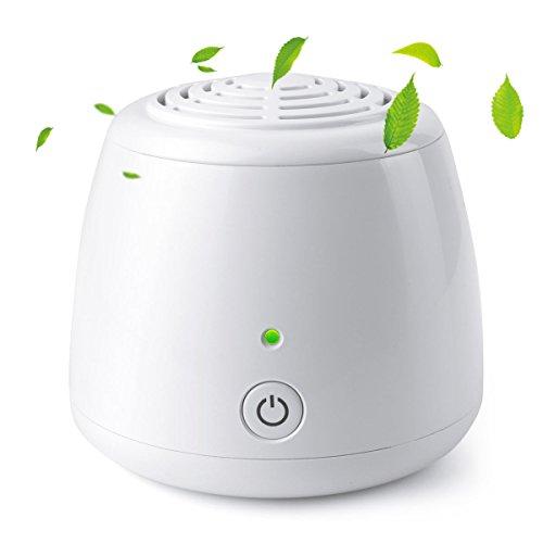 uvistare ミニ空気清浄機 エアクリーナー オゾン発生器 花粉対策 消臭 除菌 充電池/USB給電 ホーム/オフィス/車/冷蔵庫/トイレ 日本語の取扱説明書付き