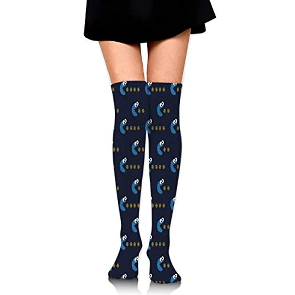 ドレス回転悲惨なMKLOS 通気性 圧縮ソックス Breathable Thigh High Socks Over Exotic Psychedelic Print Compression High Tube Thigh Boot Stockings...