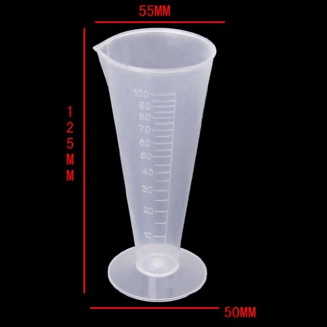回答微視的散文F Fityle 高精度 ビーカー 計量カップ 測定カップ  研究所 キッチン用 全5サイズ プラスチック 持ちやすい - 100ml