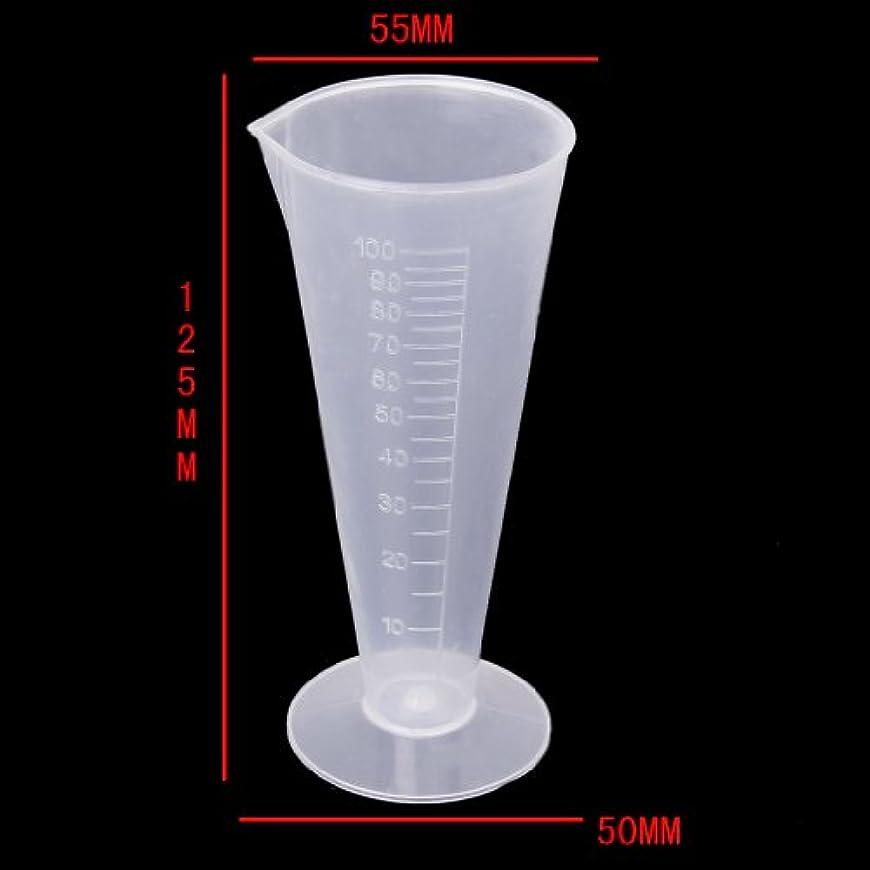 聖なるが欲しい何でもgazechimp キッチンラボラボ試験のためのプラスチック製のメジャービーカー計量カップ容器 - 100ml