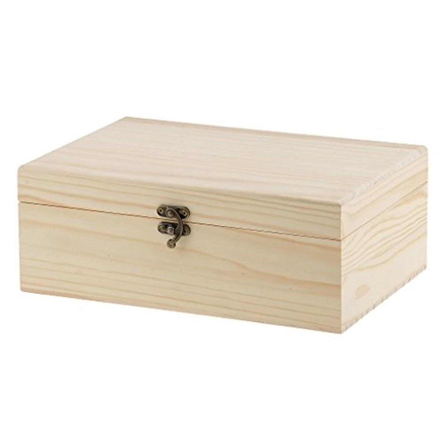 浮浪者タヒチ冒険家Perfk エッセンシャルオイル収納ボックス 47本用 木製 ディスプレイ キャリーケース ホールド オーガナイザー