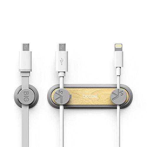 Philonext マグネットケーブルクリップ アップグレード版 万能モバイル 磁気デザイン ケーブルホルダー 磁収納 ケーブル収納 便利 (グレー)