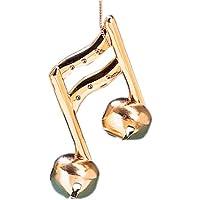 クリスマス装飾ゴールドメタリックMusical Note wtihベル4.5 L