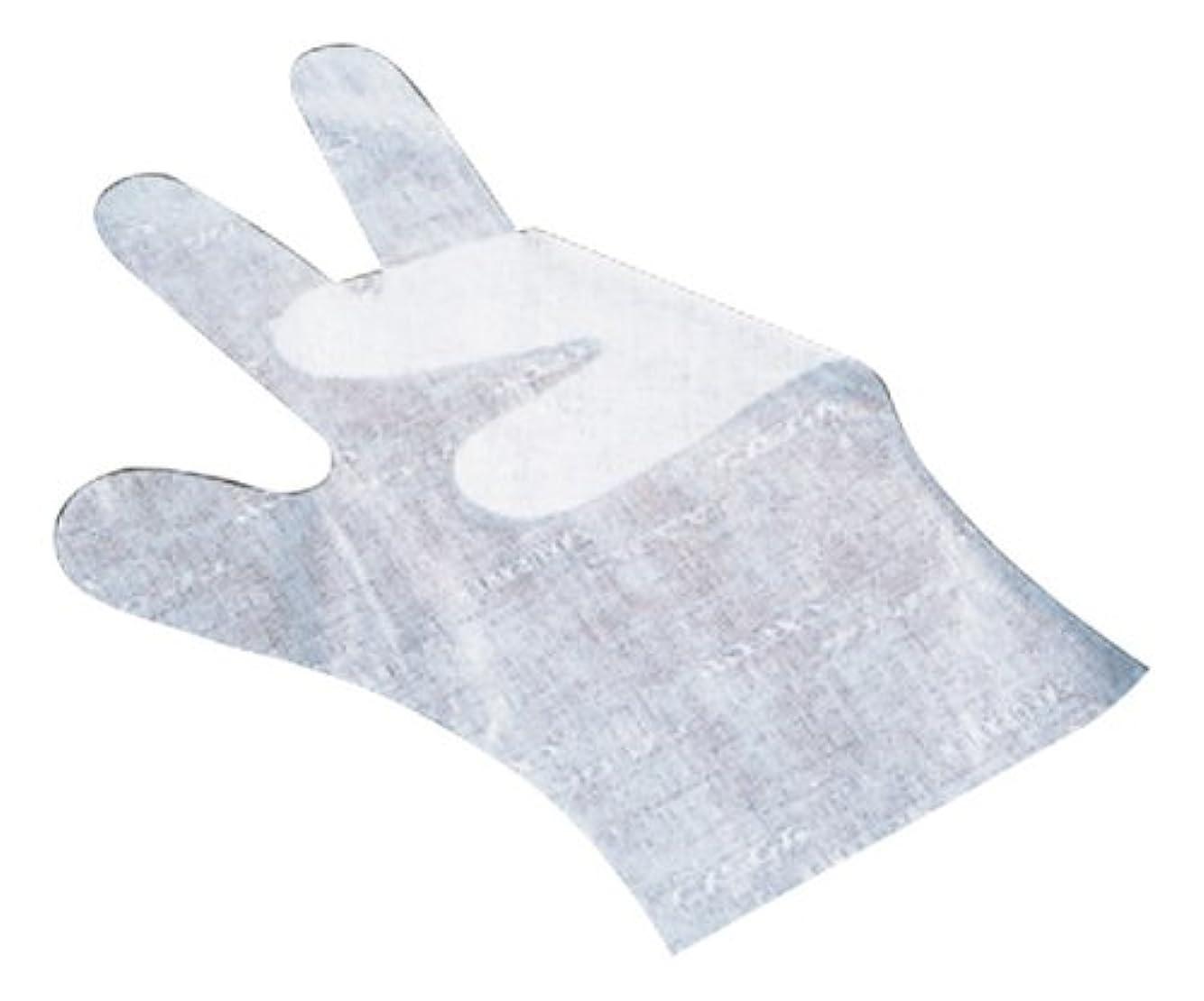 つかむ領事館入口サクラメン手袋 デラックス(100枚入)L ホワイト 35μ